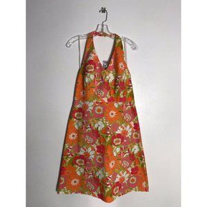 Liz Golf Claiborne Womens Floral Halter Dress Sz 8